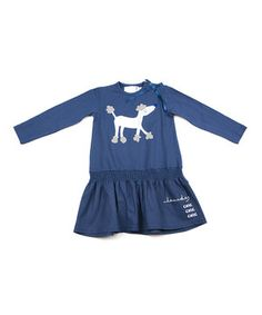 Blue Poodle Drop-Waist Dress - Infant, Toddler & Girls by Lourdes #zulily #zulilyfinds