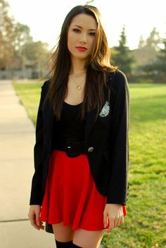 ideas about Jessica Ricks Casual Skirt Outfits, Cute Outfits, Red Skirts, Mini Skirts, Bowling Outfit, Hapa Time, Jessica Ricks, Cheerleader Costume, New Fashion