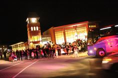 NCAA DII National Champion Marauders get a police and firetruck escort onto campus where a crowd awaited their arrival.