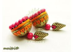 Funky Jewelry, Clay Jewelry, Jewelry Accessories, Jewelry Design, Teracotta Jewellery, Terracotta Jewellery Designs, Terracotta Earrings, Clay Tutorials, Clay Earrings
