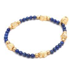 Dana Levy | Solid Mini Hamsa Hand Charm Gemstone Bracelet