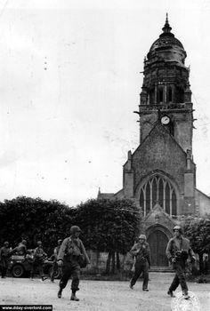 WW2 Gi/'s de la 9è DI à Ste-Marie-du-Mont France 44