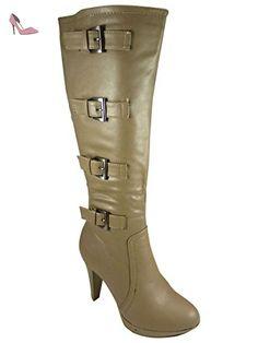 b039aa403d88e Botte à plateforme et talons hauts Taupe 40 - Chaussures chaussmaro  ( Partner-Link