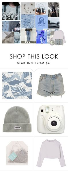 """""""lucky people"""" by corruptedcolours ❤ liked on Polyvore featuring GET LOST, Cole & Son, Levi's, adidas, Fujifilm and Paper Source"""