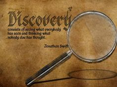 """discovery quote - Put your favorite quote on any of our products!  - Order now and Use code """"FS2013"""" for Free Shipping :-)"""