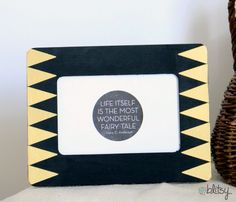 @blitsy's Trendy Triangle Frame would be the sweetest thing to make a friend who is moving. Put a favorite quote or a favorite photo in the frame as a going away present. /ES