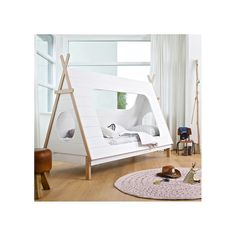 This amazing, luxury Kids Teepee Cabin Bed from Woood is the ultimate designer feature bed for any kid's room. Constructed from solid pine…