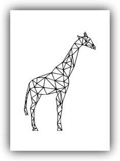 Geometric Giraffe Art, Printable Art *106* #Handmade #PopArt