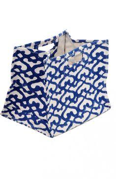 Big Cata Blue Nesting Bag Large for toys - Roberta Roller Rabbit