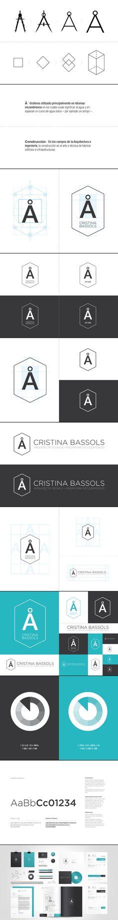 Architect Cristina Bassols Art Direction, Branding, Graphic Design via behance Corporate Identity, Visual Identity, Brand Identity, Brand Guidelines, Brand Design, Art Direction, Arch, Behance, Graphic Design