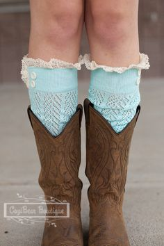 Women's Chevron Open Knit Boot Socks with by CoziBearBoutique