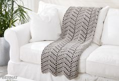 Ripples In The Sand Crochet Afghan - FREE Pattern | Yarnspirations