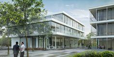 3D-Visualisierung Firmengebäude Tagansicht