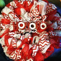 Ho ho ho!  Deco mesh and ribbon.