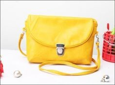 Jual Tas Selempang-Ransel Kecil Wanita Korea Clutch Simply Clip - Kuning