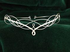 Silver Elven Celtic Medieval Rennaisance Headdress Circlet