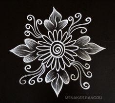 Source by menakasrangoli Simple Rangoli Border Designs, Easy Rangoli Designs Diwali, Indian Rangoli Designs, Rangoli Designs Latest, Rangoli Designs Flower, Free Hand Rangoli Design, Small Rangoli Design, Rangoli Patterns, Rangoli Designs With Dots