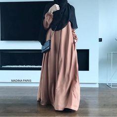 Niqab Fashion, Modest Fashion, Fashion Dresses, Muslim Women Fashion, Islamic Fashion, Hijab Fashion Inspiration, Mode Inspiration, Estilo Abaya, Hijab Style Tutorial