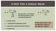 Statistics Single Sample Hypothesis z-test - Part 1 Statistics Notes, Mathematics Geometry, Human Memory, Regression Analysis, Psychology Studies, Research Methods, Educational Websites, Study Skills, Calculus