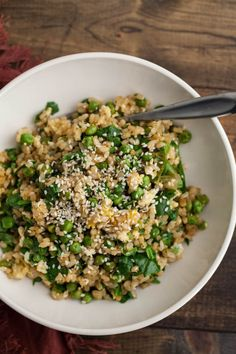 Vegetarian Spinach and Pea Fried Rice | 7 Quick Dinners To Make This Week