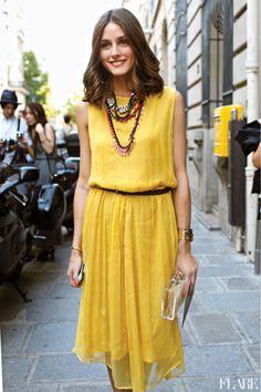 olivia palmero- I wore Yellow today... I normally dont wear bright colours but thought id be BOLD today. Very Wild of me I know.... but I got quite a few compliments. Maybe I should be 'Wild' with my fashion choices more often.