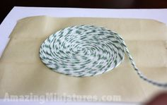 Simple rug DIY - looks like bakers twine which is available in many colors ( check Michael's or scrapbook store