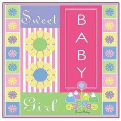 Trademark Art Sweet Baby Girl Canvas Art by Grace Riley, Size: 24 x 24, Multicolor