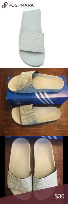 3dee996da7d1b Shop Women s adidas Green size 9 Sandals at a discounted price at Poshmark. ADIDAS  ADILETTE SLIDES - Mint Men s 8 Women s Sold by Fast delivery