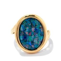<strong>9</strong> - Mosaic Opal 9K Gold Ring