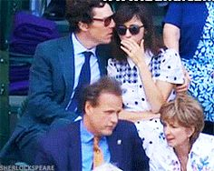 Benedict Cumberbatch and Sophie Hunter at Wimbledon July 10, 2016