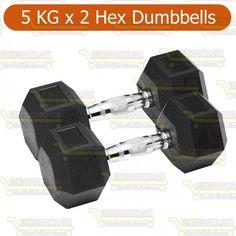 Hex dumbbell 5 kg pair