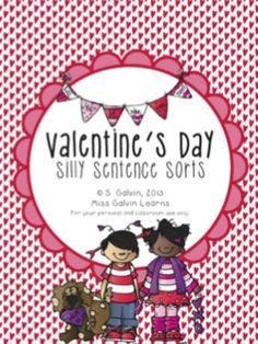 Valentine's Day Silly Sentence Sorts $2
