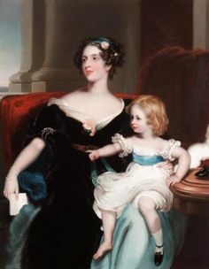 Harriet, Countess Gower and her Daughter, Elizabeth Georgiana, later Duchess Of Argyll after Sir Thomas Lawrence.Based on the birth date of Elizabeth Georgina, later Duchess of Argyll, of 1824 this portrait would date to around 1826. The year 1826 is consistent with Duchess Harriet's dress. Elizabeth Georgina's summary in thepeerage.com is here. Elizabeth Georgina's oldest son, John Marquis of Lorne, married Queen Victoria's daughter Princess Louise.