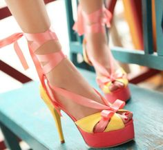 ENMAYER free shipping New 2014 new Ribbons high-heeled sandals sweet fashion fish mouth shoes sandals wedding shoes $57.63