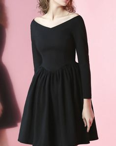 Check the details and price of this Captivating Black Folds Long Sleeve Polyester Plain Mini Dress (Black, JUNGLE ME) and buy it online. VIPme.com offers high-quality Day Dresses at affordable price.