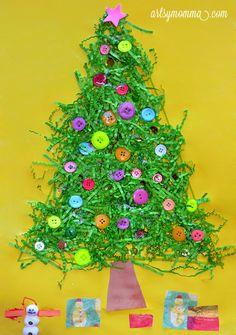 Recycled Christmas Tree Craft for Kids #christmas