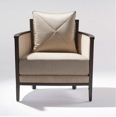 ADRIANA HOYOS GRAFITO Collection Upholstered Chair in Dark Seike #LivingRoom