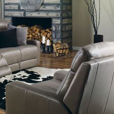 Palliser Furniture Forest Hill Rocker Recliner Upholstery: All Leather Protected - Tulsa II Jet, Leather Type: Leather PVC/Match, Type: Power