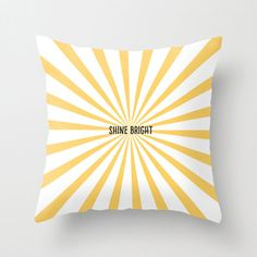 Shine Bright Throw Pillow - Geometric Pillow - Modern Decor - Throw Pillow - Urban Decor - by Beverly LeFevre