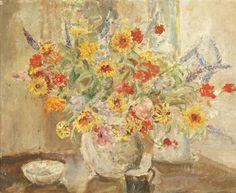 A Vase of Flowers - Ethel Walker