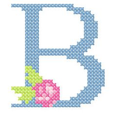 Der Stickbär | Großes Kreuzstich-ABC | Stickmuster mit Herz