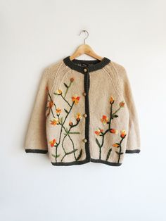 Siena Knit Cardigan // Vintage 1950's/1960's Sweater SOLD