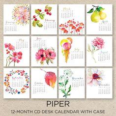 50 Absolutely Beautiful 2016 Calendar Designs                                                                                                                                                                                 More