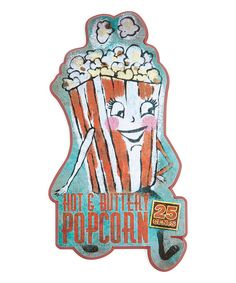 Look at this Vintage-Inspired 'Popcorn' Wall Sign on #zulily today!