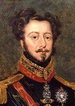 """Pedro que permanecia en el pais como regente, se alio con los nacionalistas. Presionado por la corte portuguesa para que retornara, Pedro se nego. Se le retiro entonces el cargo de regente. Al conocer la noticia, en 7 de septiembre de 1822, desenvaino su espada y exclamo '' INDEPENDENCIA OU MUERTE."""" Esta frase fico conocida como el grito de el Ipiranga. Pedro fue declarado emperador de brasil e coronado en 1 de diciembre de 1822."""