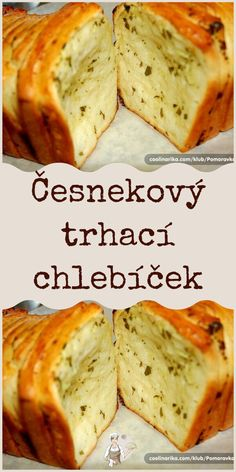 Bread Recipes, Cooking Recipes, Czech Recipes, Pull Apart, Sourdough Bread, Banana Bread, Veggies, Food And Drink, Pizza