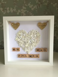 Wedding gift - Personalised button art