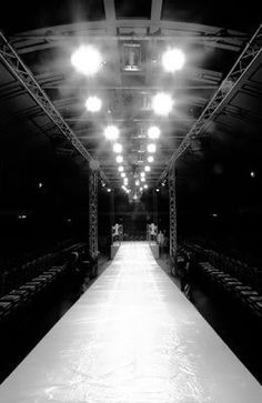 The catwalk, a fashion designer's showcase.  I have dreamed of being at one.  I want to be backstage, in the front row, and walking it at the same time.