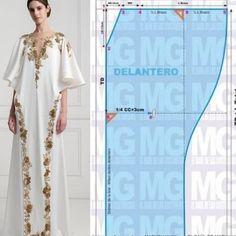 Fashion Sewing, Diy Fashion, Ideias Fashion, Kaftan Designs, Blouse Designs, Sewing Clothes, Diy Clothes, Abaya Pattern, Dress Making Patterns