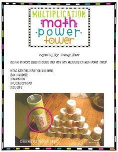 Here is a little math center my students love to play in the classroom. **Included in the download is ONLY the label** Multiplication Math Cent...
